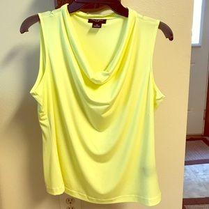 Sleeveless summery yellow blouse